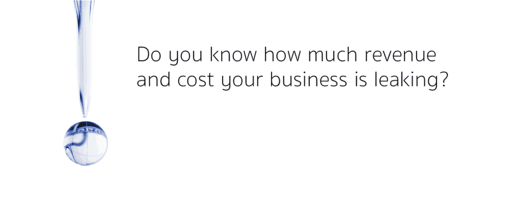 Do you know how much revenue and cost your business is leaking?