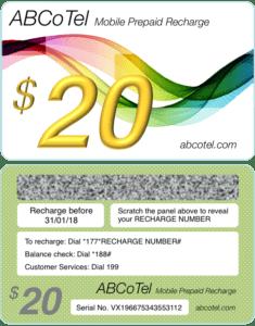 Prepaid mobile scratch card